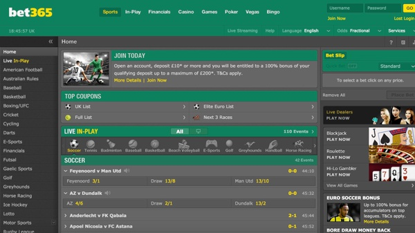 Bet365 Sports Screenshot