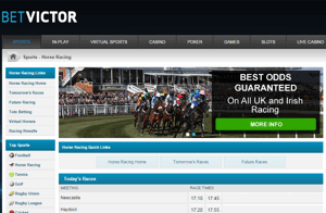 BetVictor Horse Racing Screnshot