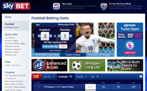 Sky Bet Football Screenshot