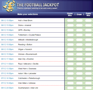 Coral Football Jackpot Weekly Football Coupon With Huge Prizes