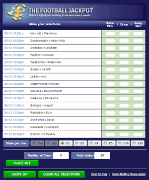 Coral Football Jackpot Coupon
