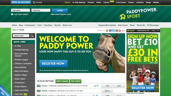 Paddy Power Sports Screenshot