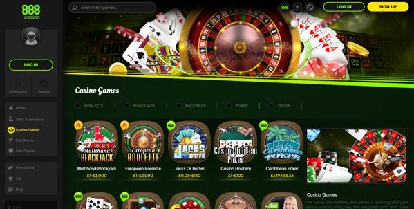 888casino screenshot