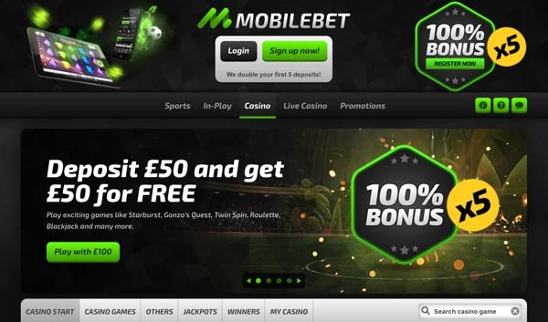 Mobilbet Casino Screenshot