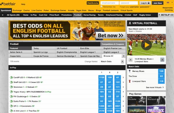 Betfair Sports Screenshot