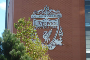 Liverpool Crest at Anfield Football Stadium