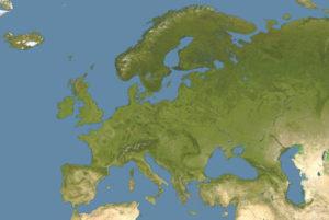 Satellite Map of Europe