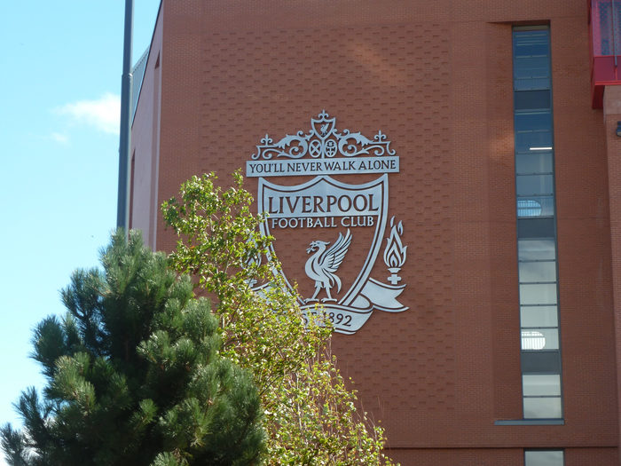 Liverpool Crest at Anfield Football Stadium