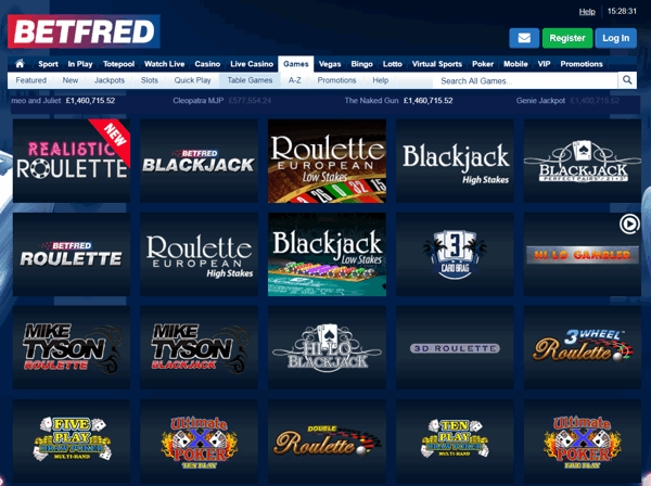 betfred casino screenshot