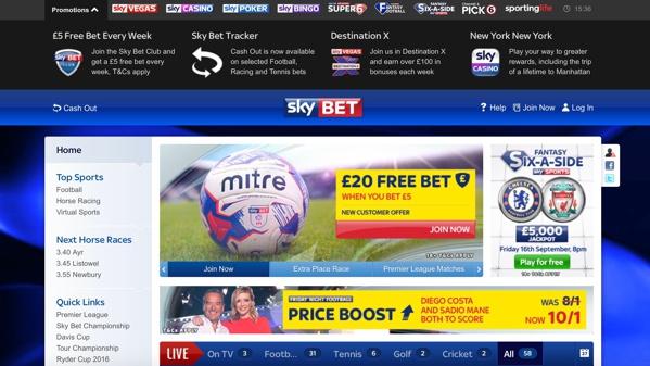 Sky Bet Sports Screenshot