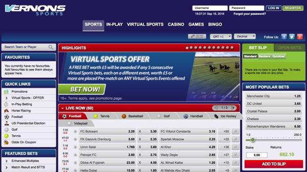 Vernons Sports Screenshot