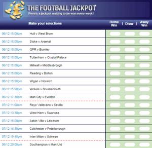 £1.9m Coral Football Jackpot - December 2014