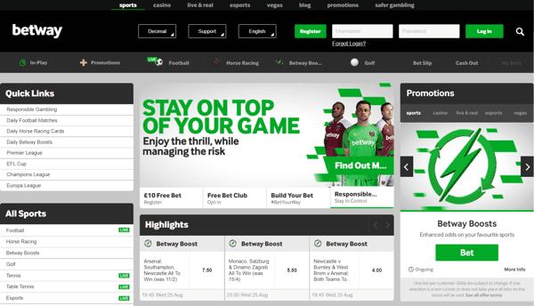 Betway Sports Screenshot