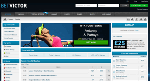 BetVictor Tennis Screenshot
