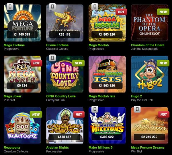 mobilebet casino games