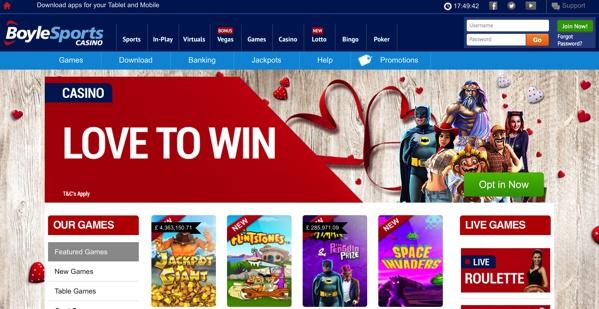 BoyleSports Casino Screenshot