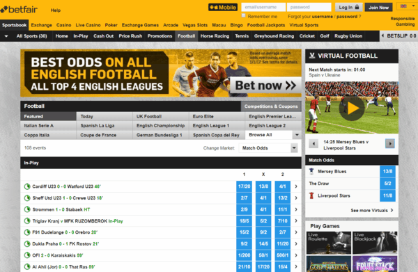 Betfair Sports Screenshot