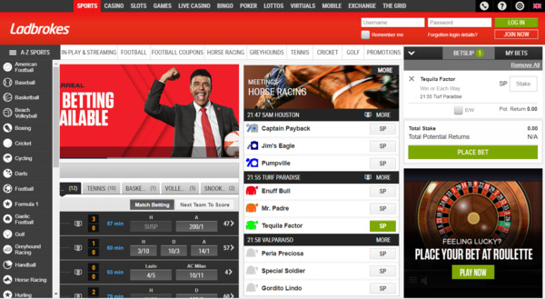 Ladbrokes Sports Screenshot