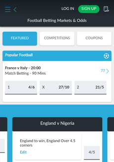 BetVictor Mobile Screenshot