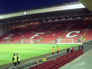 The Kop Stand at Anfield, Liverpool