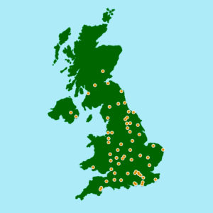 Map of UK Racecourses