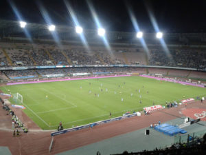 Napoli's Stadio San Paolo During Evening Game