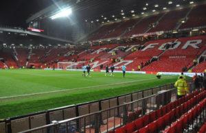 Old Trafford Stadium Before Evening Football Match