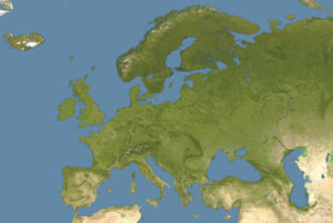 Satellite Map of Europe