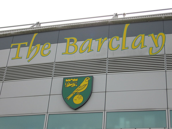 Norwich City Crest at Carrow Road