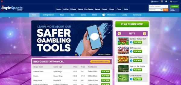 BoyleSports Bingo Screenshot