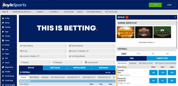 BoyleSports Sportbook Screenshot