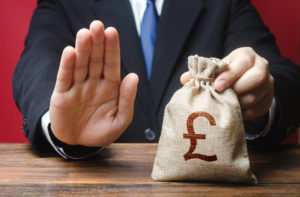 Businessman Refuses to Pay Money Bag