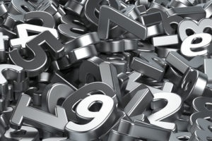 Metal 3D Numbers