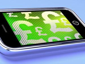 British Pound Signs on Smartphone