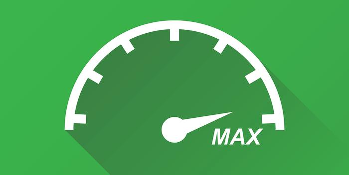 Green Speedometer Icon
