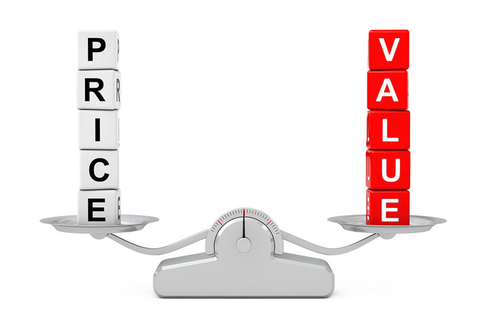 Price and Value Balanced on Scales
