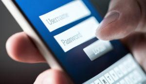 Smartphone Login Screen