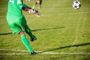 Goalkeeper Kicking Ball