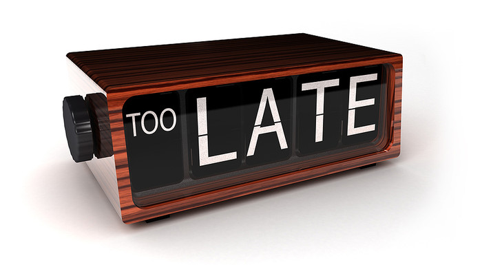 Clock Showing Too Late