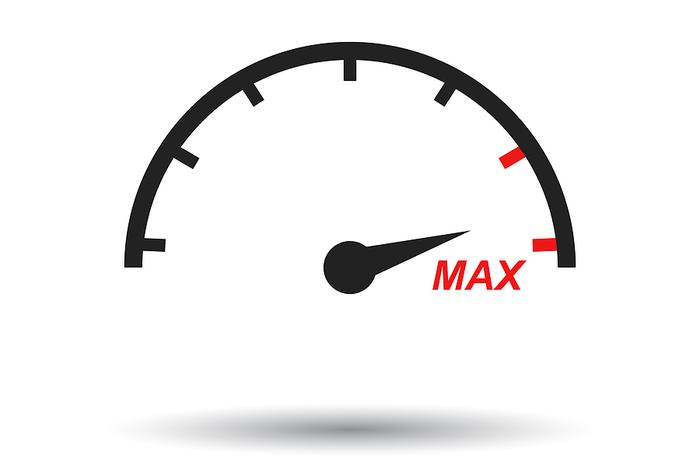 Maximum Limit on a Speedometer