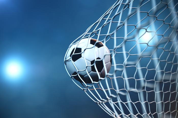 Football Ball in Net