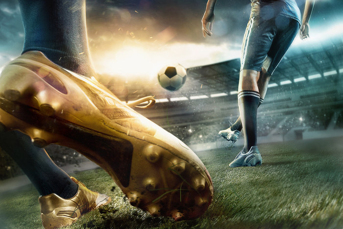 Football Player Gold Boots