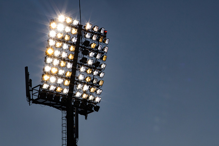 Stadium Floodlight in Evening