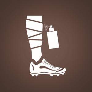Bandaged Footballer's Leg Icon