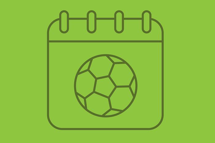 Football Calendar Icon in Green