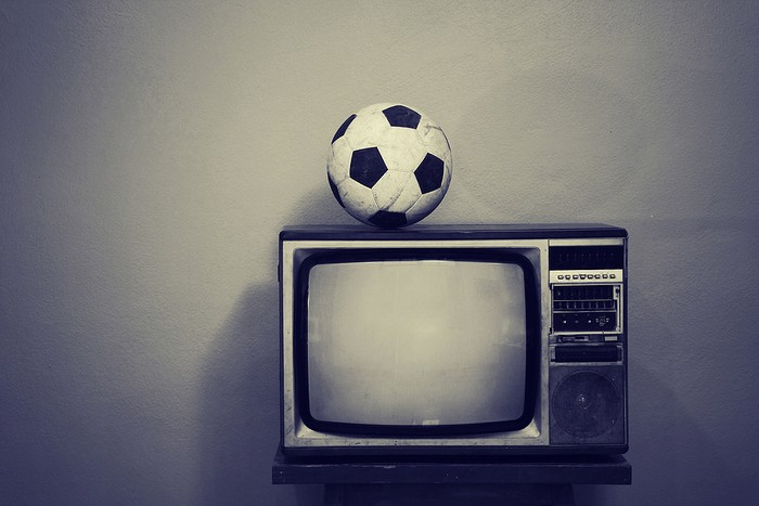Football and Retro TV in Black and White