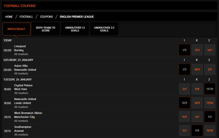 888sport Football Coupon Screenshot