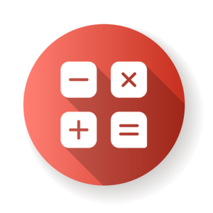 Calculator App Icon in Red