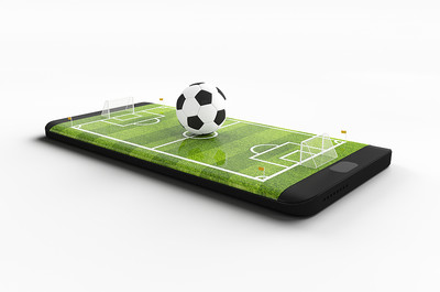 Football Pitch on Smartphone