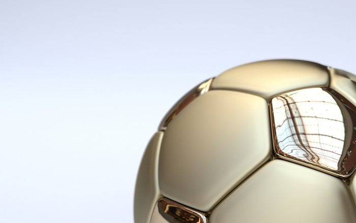 Gold Panelled Football